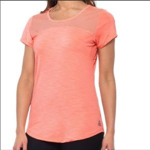 Reebok Coral Flare Tempo Short Sleeve Top